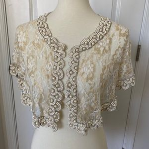 BHLDN First Light Capelet Gold S/M